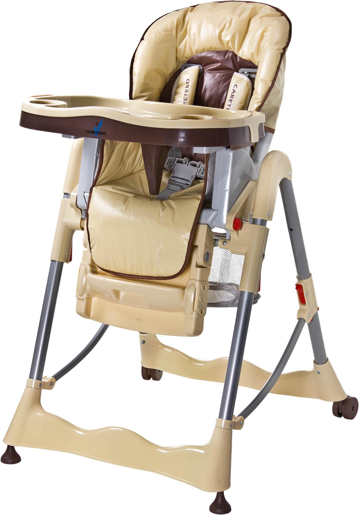 CARETERO Magnus Classic cappuccino Skládací jídelní židlička Caretero