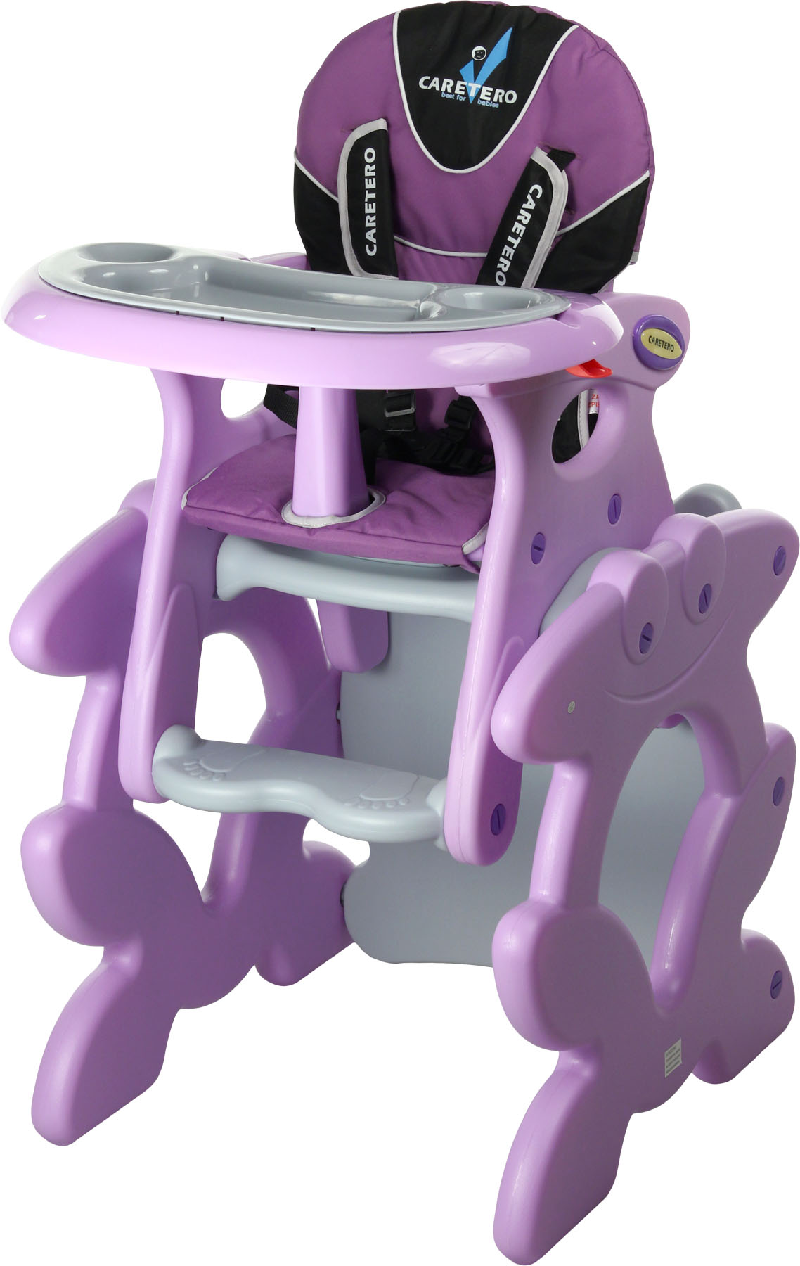Caretero Primus purple jídelní židlička Dětská jídelní židlička rozkládací