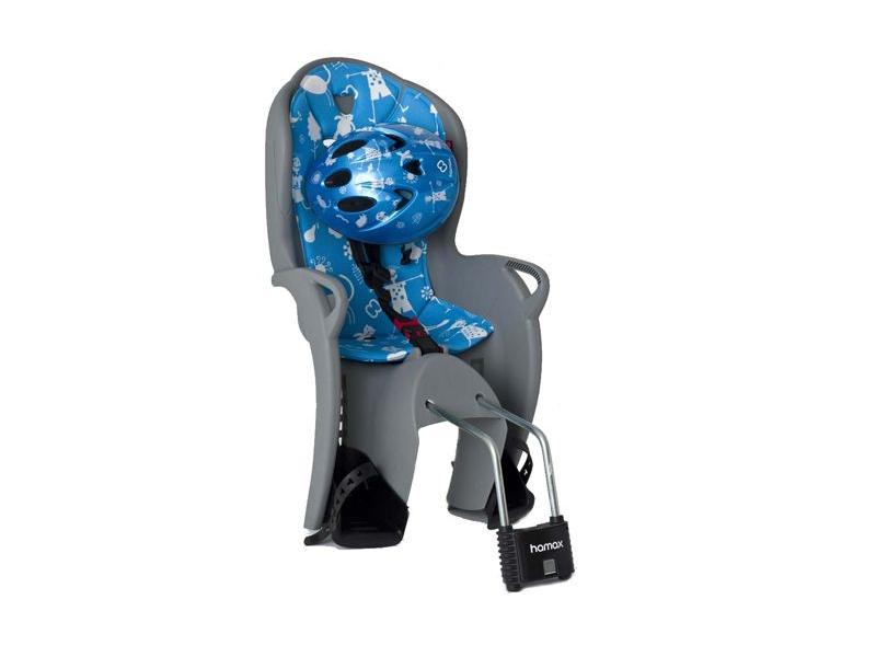 Cyklosedačka s přilbou HAMAX Kiss modrá