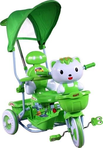 ARTI tříkolka s vodící tyčí Kočička green Dětská tříkolka s vodící tyčí a stříškou