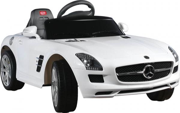 Elektrické auto RASTAR Mercedes SLS AMG white Elektrické auto pro 1 dítě s dálkovým ovládáním