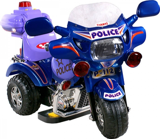 Motorka elektrická Arti Policie 2126 blue Dětská elektrická motorka