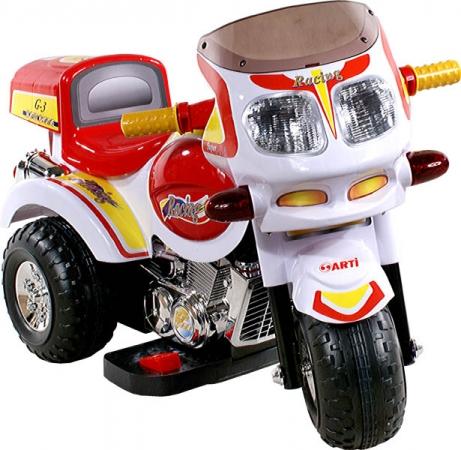 Motorka elektrická Arti Racing 2136 white Dětská elektrická motorka red