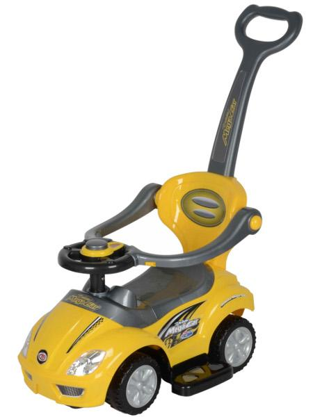 Odrážedlo 3v1 Baby Mix 381 yellow Odrážedlo s vodící tyčí