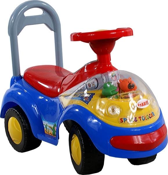 Odrážedlo Arti GARBUS XT408 MUSIC blue Odrážecí auto pro děti, s melodiemi