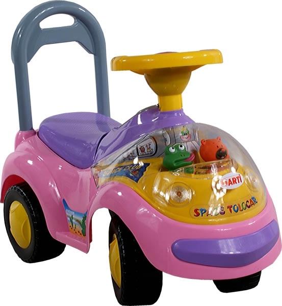 Odrážedlo Arti GARBUS XT408 MUSIC pink Odrážecí auto pro děti, s melodiemi
