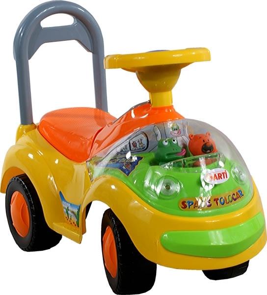 Odrážedlo Arti GARBUS XT408 MUSIC yellow Odrážecí auto pro děti, s melodiemi