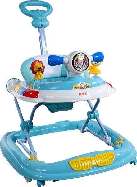 Chodítko s vodící tyčí ARTI UFO blue Dětské chodítko s hracím pultíkem