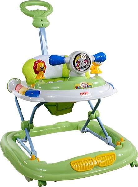 Chodítko s vodící tyčí ARTI UFO green Dětské chodítko s hracím pultíkem