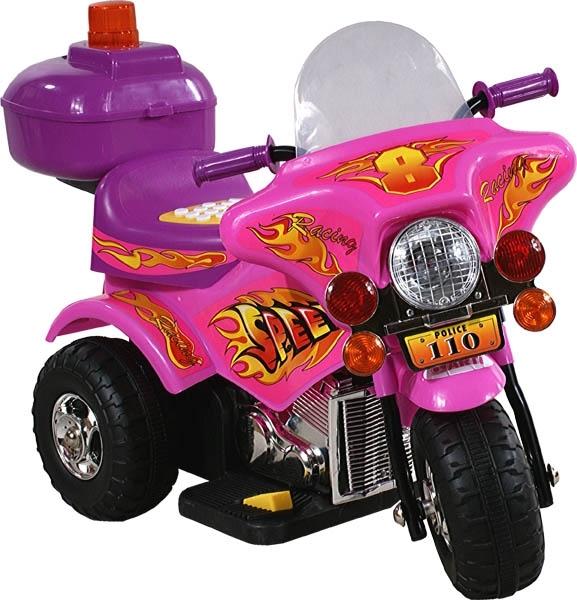Motorka elektrická ARTI Police pink Dětská elektrická motorka