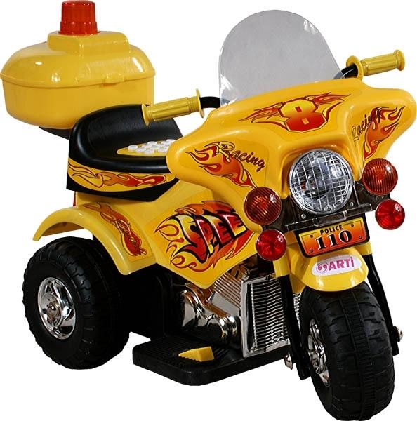 Motorka elektrická ARTI Police yellow Dětská elektrická motorka