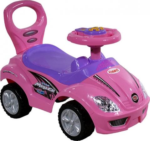 Odrážedlo ARTI 382A Mega Car standart music pink Odrážecí auto pro děti