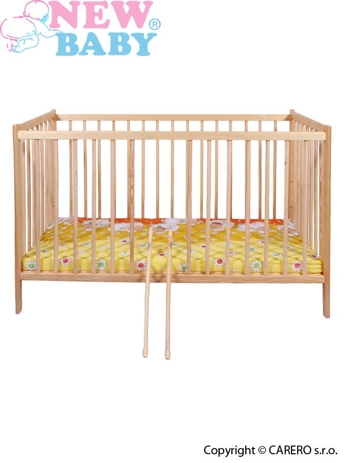 Dřevěná postýlka New Baby DOMINIC nature Dětská postýlka klasických rozměrů