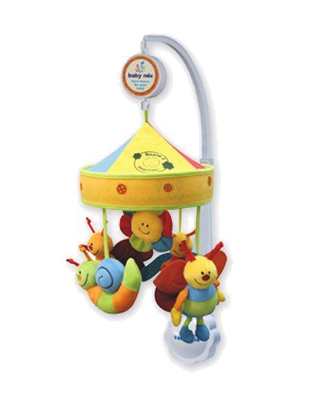 Kolotoč nad postýlku Baby Mix Broučci Hrající kolotoč nad postýlku s plyšovými figurkami