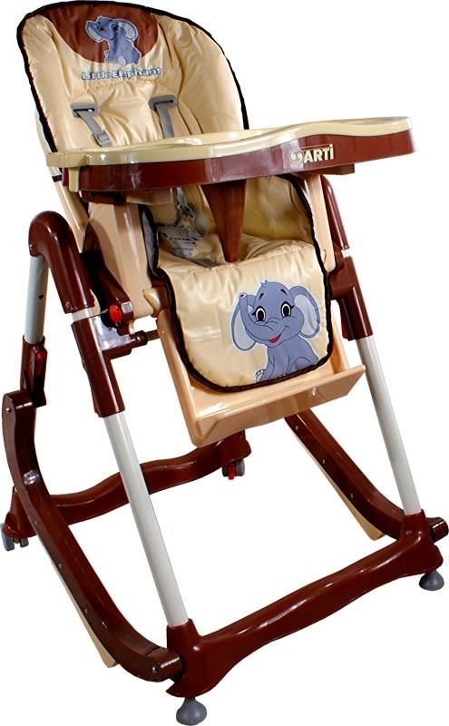 Jídelní židlička Modern Beige Skládací jídelní židlička s funkcí kolébky