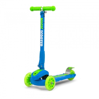 Koloběžka Milly Mally Magic Scooter blue-green